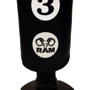 RAM C staande bokszak met scoring zones zwart