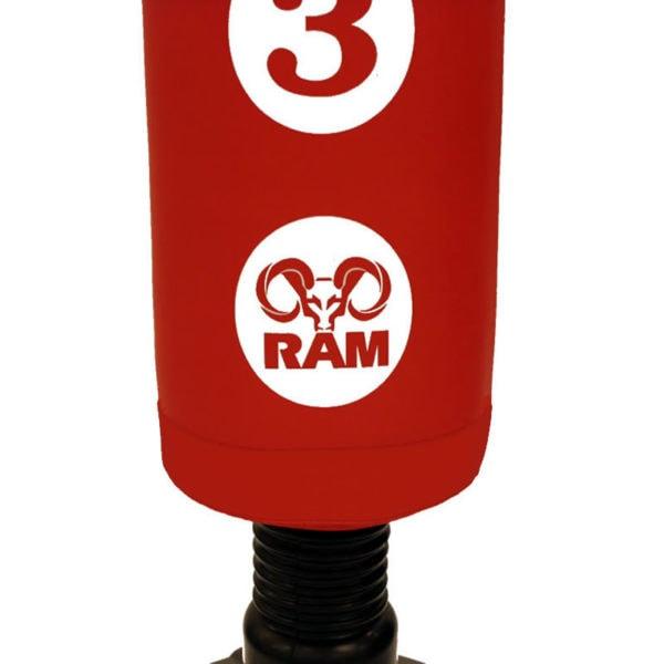 RAM C staande bokszak met scoring zones rood